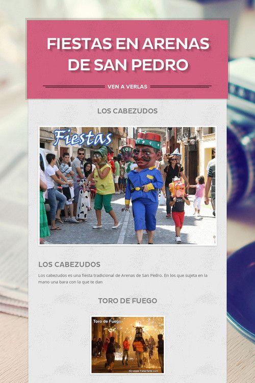 FIESTAS  EN ARENAS DE SAN PEDRO