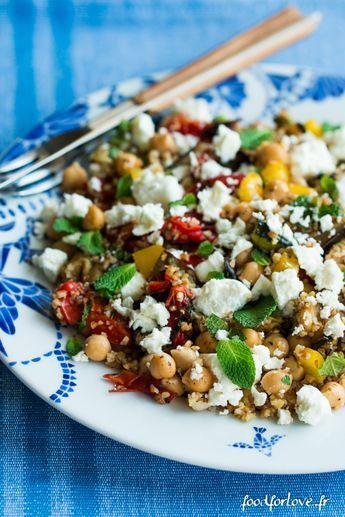 salade boulgour legumes grilles pois chiche feta menthe-5