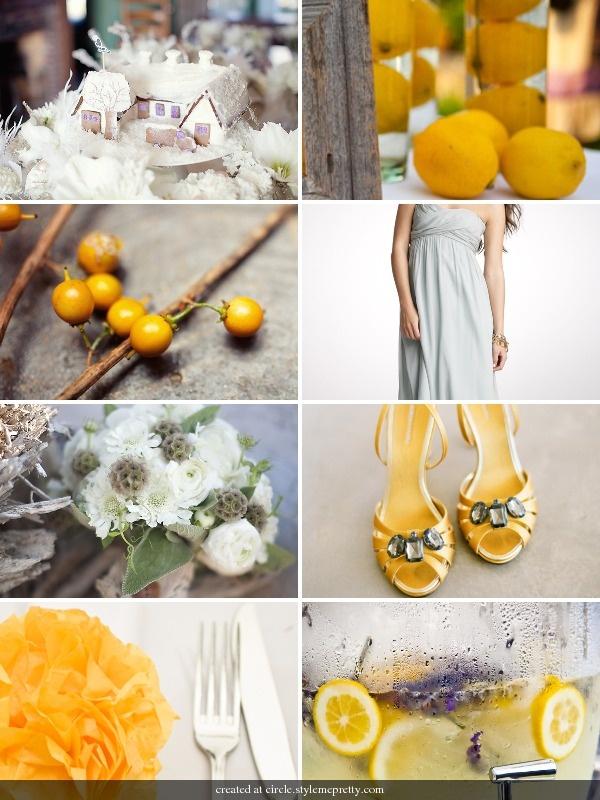 Yellow Grey Inspiration - see lemon lavender water!