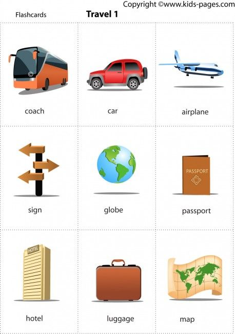 Kids Pages - Travel 1