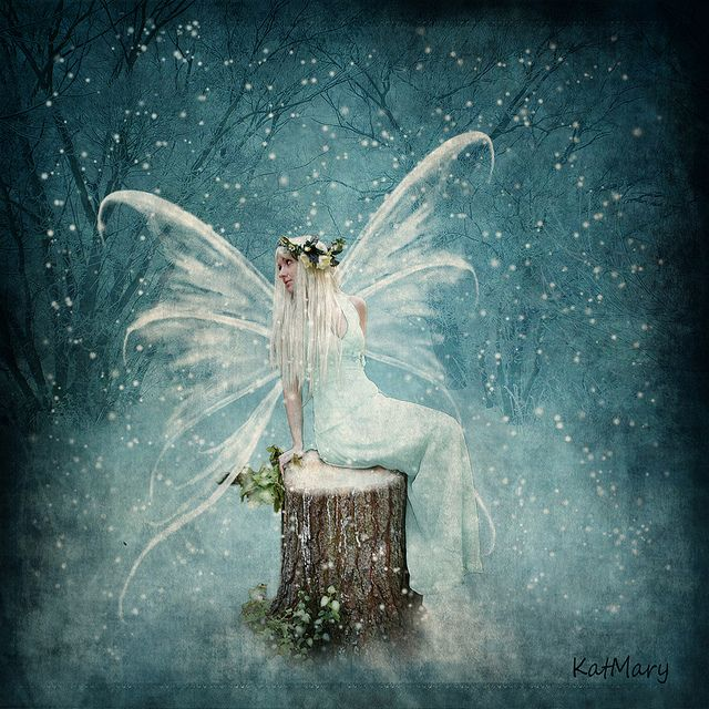 Winter fairy by katmary (Kathryn), via Flickr; pinned under a Creative Commons Attribution license. Stunning!