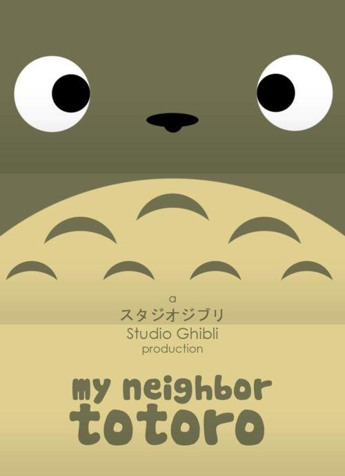 My Neighbor Totoro poster on Minimal Movie Posters.