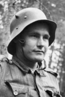 Toivo Ilomäki (1917–1965) Knight of the Mannerheim Cross #155. During the Continuation War he was Anti-Tank Gunner in 24th Gun Company of 5th Division (24.TykK/5.Div) and fought from Ladoga Karelia to Svir river. Citation for his Mannerheim Cross (2nd class) mentions that he destroyed his first tank on June 22, 1944, and two days later 16 tanks (14x T-34 & 2x KV-1) in Battle of Sammatus (PSS line),. Later he destroyed 4 more tanks from close range at Tihveri