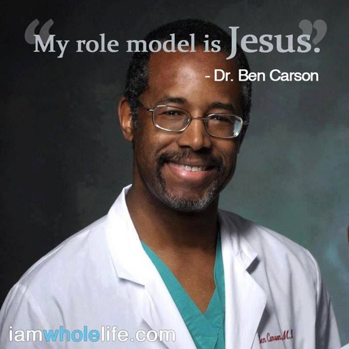 ❤️️Christian Quotes ~ My role model is Jesus ~ Dr Ben Carson. (please help the persecuted christians. www.opendoors.org)