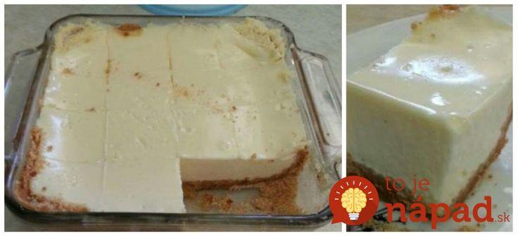 Zázračný krémový koláč z 3 prísad: Vyskúšala som ho na dovolenke a je neskutočný – 10 minút a máte hotovo!