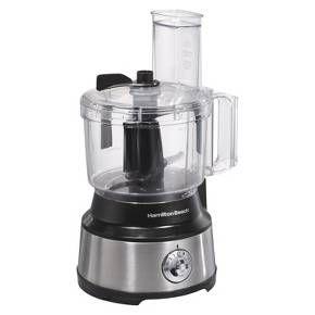 Hamilton Beach Bowl Scraper Food Processor  - 10 Cup (Black/Silver)- 70730