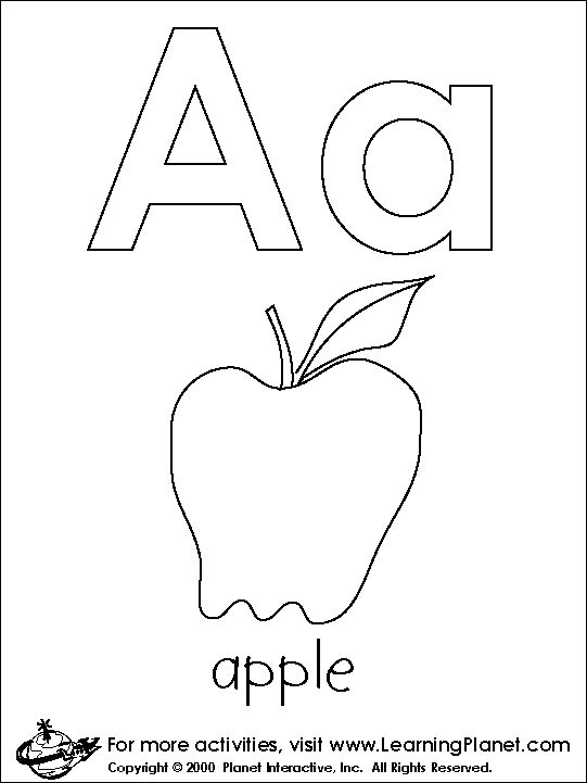 Great Coloring Pages For Each Letter Learningplanet Parents Alphabet
