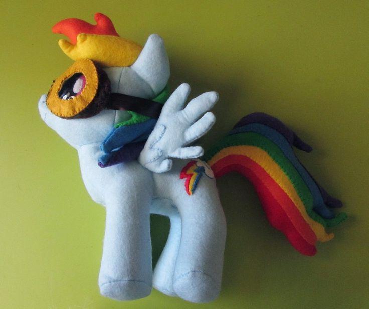 DIY Rainbow Dash My Little Pony Plush with Goggles  #mlp #mylittlepony