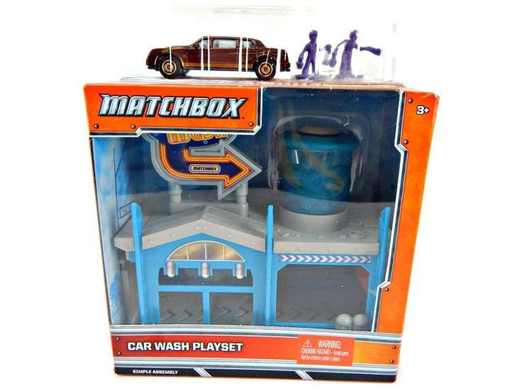 Matchbox Car Wash Playset With Die Cast Car New in Box Mattell #Matchbox