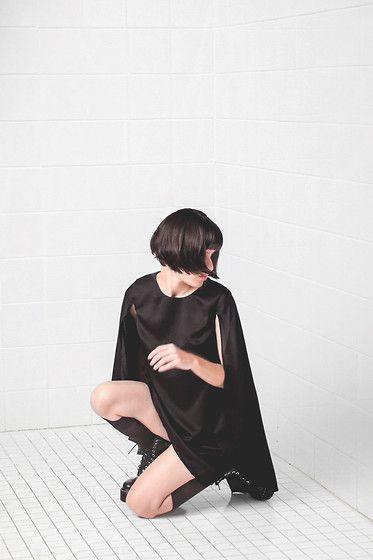 Daniela Nutz - Dr. Martens Aggy Boots, Moni & Coli Cape Dress - I'M OKAY