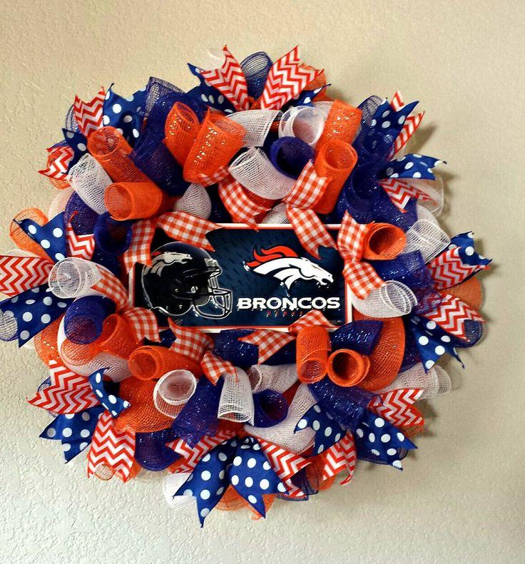 Denver Broncos wreath by AnyOccasionWillDo on Etsy https://www.etsy.com/listing/203651926/denver-broncos-wreath