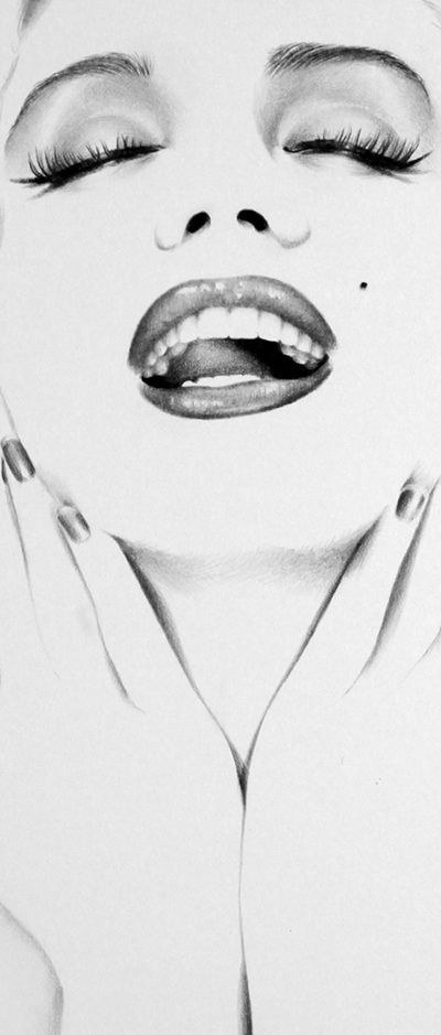 Marilyn Minimal Detail by *IleanaHunter on deviantART #Art #Drawing