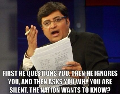 Bhabtosh Kumar's answer to Arnab Goswami: What is wrong with Arnab Goswami's style of journalism? - Quora