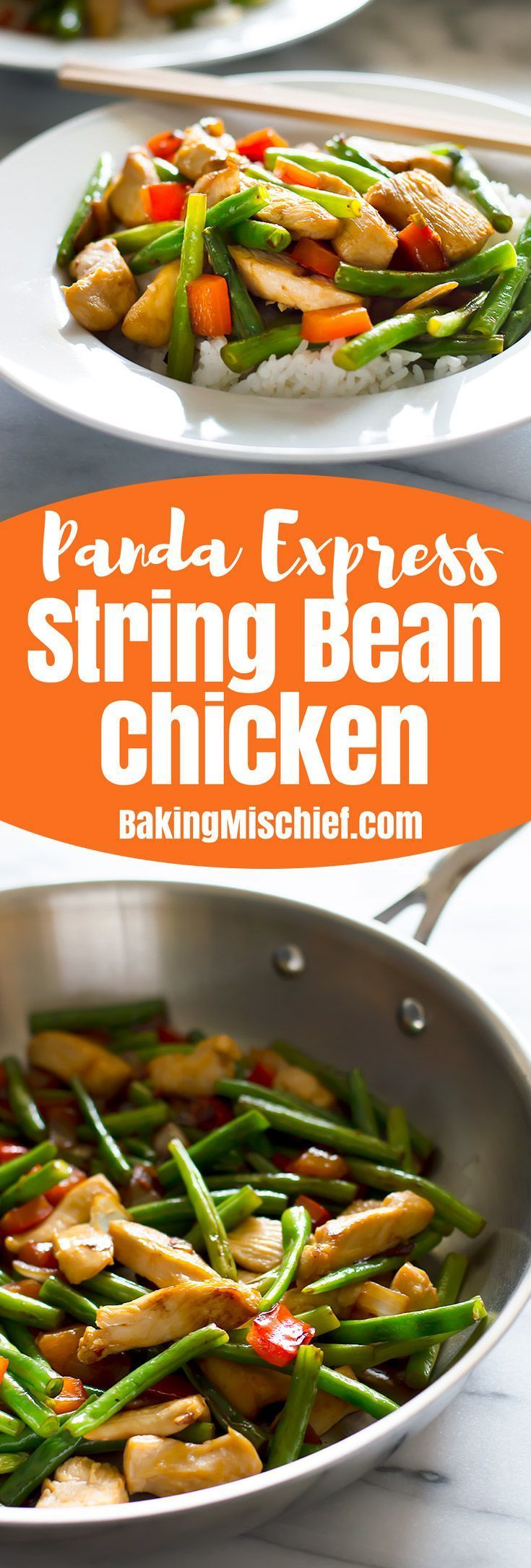 This healthy Panda Express Chicken recipe is an easy dinner: light, simple, and delicious. From http://BakingMischief.com