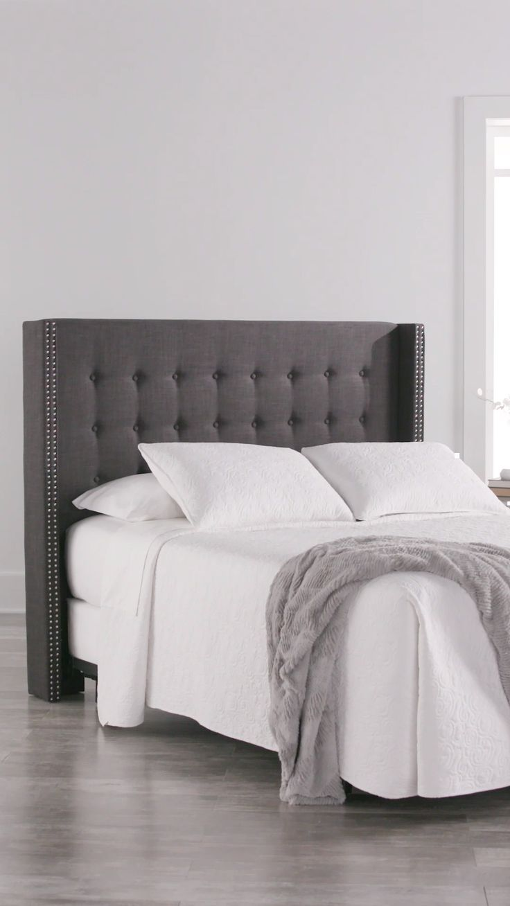 Bedroom Inspirations Grey Upholstered Bed Master Bedroom Upholstered Bed Decor Grey Upholstered Bed