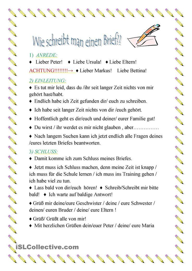 Briefe Schreiben Themen : Die besten ideen zu briefe schreiben auf pinterest