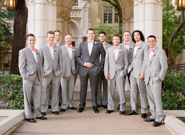 You will become such a outstanding man with 2015 new light grey groomsmen suits groom tuxedos men's suit for wedding custom made two button men's suits (jacket+pants+bow tie) offered by wedding_present. Besides, DHgate.com also provide mens casual suits mens formal suits and mens suit jackets.