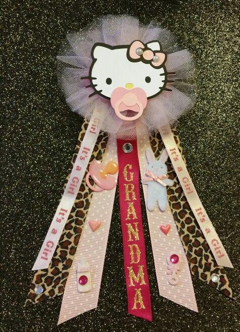 Hello kitty babyshower corsage
