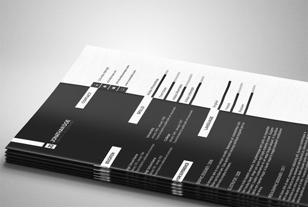 """Great Black and White Minimal Resume Template by ShapShapy, via Behance. Aaron Sheppard and look at my """"? - Design - Resumes"""" board. Creative Resume Design, Resume Style, Resume Design, Curriculum Vitae, CV, Resume Template, Resumes, Resume Format."""