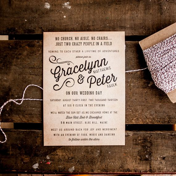 Outdoor Wedding Invitation Wording: 25+ Best Ideas About Casual Wedding Invitations On