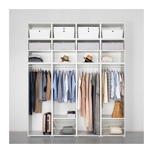 Platsa Wardrobe White Fonnes White Ikea In 2019 Bedrooms