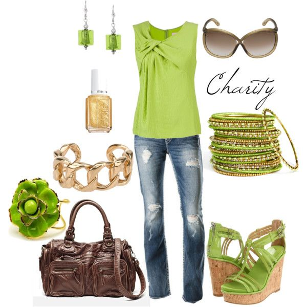 I am a little obsessed with green -- this shirt is so cute though (I could NEVER wear these shoes --pinned from home stories a to z