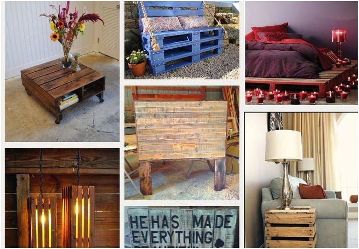 Pallet furniture heeft veel leuke voorbeelden voor de recycling van pallets.