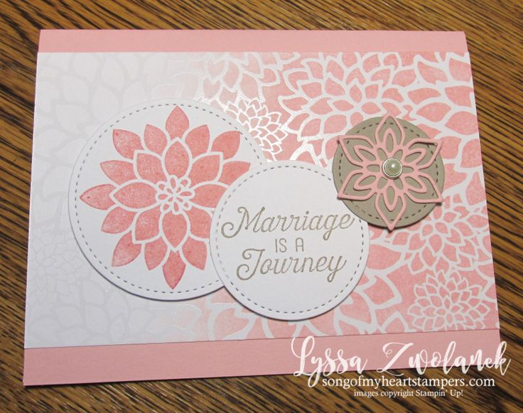Irresistibly Floral emboss resist technique papers giveaway wedding congrats card Sizzix Stampin Up