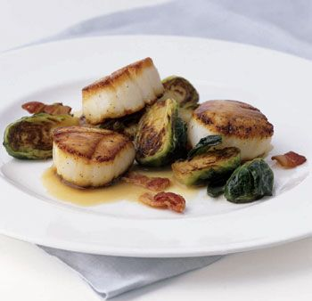 More like this: seared scallops , scallops and brussels .