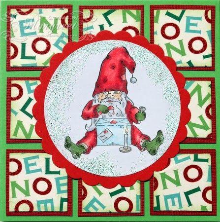 Margreet's scrapcards: Kerstman met brief / Santa's letter