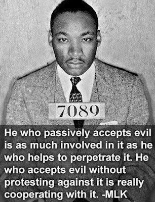 Do you see what is going on in the world right now? Today? Stop accepting the lies of the world. Stop accepting its violence. Stop being passive when it comes to evil.