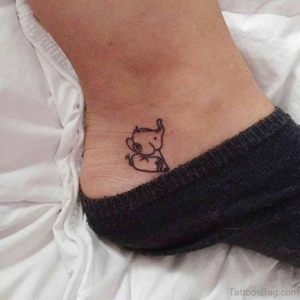 30 Trendy Elephant Tattoo On Ankle With Images Little Foot Tattoos Foot Tattoos Little Elephant Tattoos