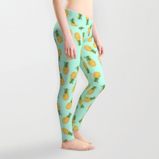 Pineapple Leggings by Amy Sia | Society6