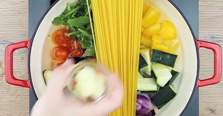 Fresca y saludable: ¡pasta a la campesina!