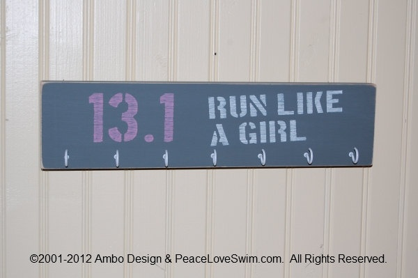 13.1 Run Like A Girl Medal Display Hanger - I will make this because I will fill it this year!