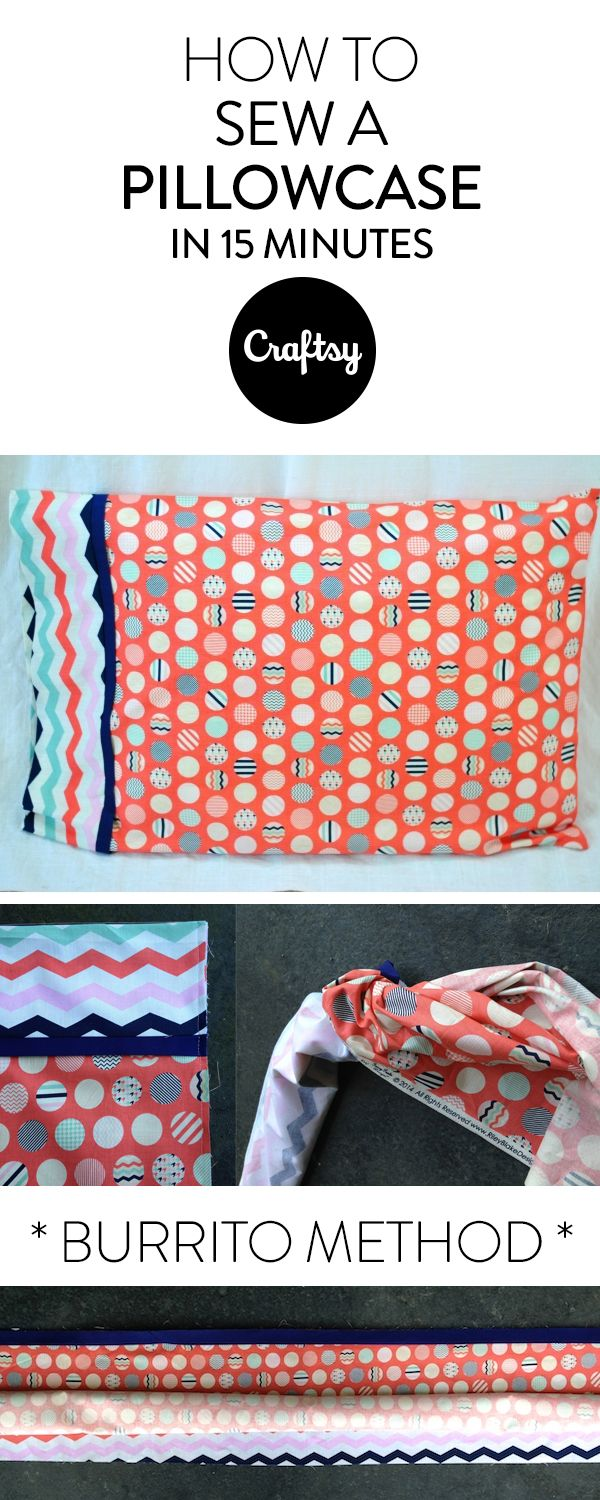 Learn how to easily sew a pillowcase using the burrito method. In just 15 minutes you'll have a beautiful new pillow cover!