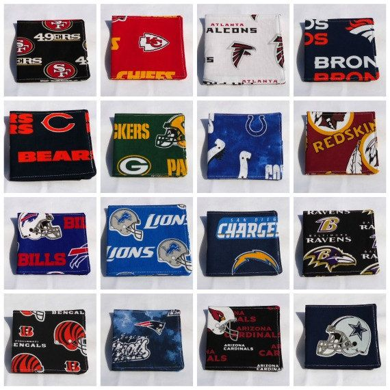 NFL Custom Order Team Billfold   FREE Shipping by VABeachQuilter, ALL NFL teams available!