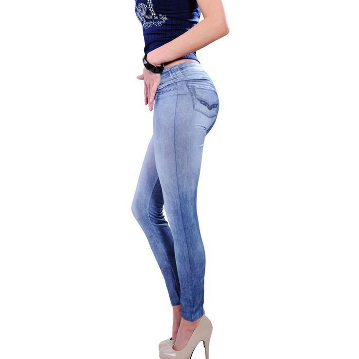 Cool jeans print leggings - perfect light weight bottoms for your Summer wardrobe. Buy now from VICTORS CROWN ONLINE