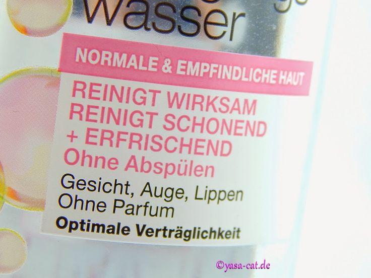 Mizellen Gesichtswasser von Garnier, Review, auf www.yasa-cat.de