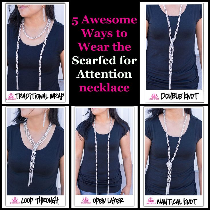 How to wear the Paparazzi Scarfed for Attention necklace ...