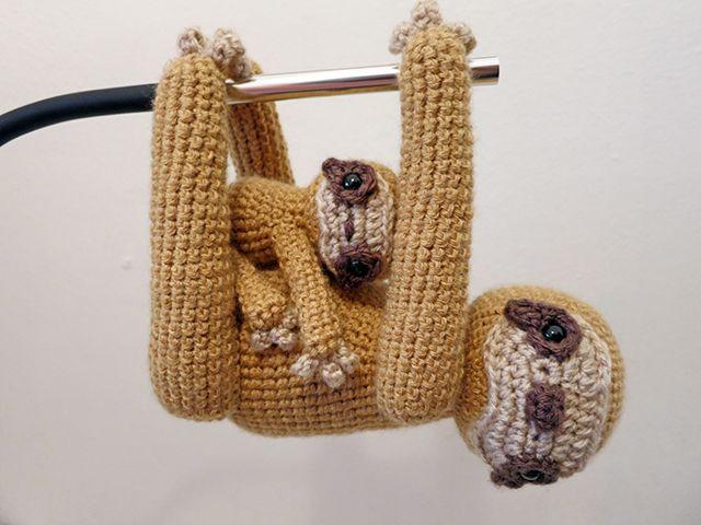 crochet sloth. pattern @ Etsy