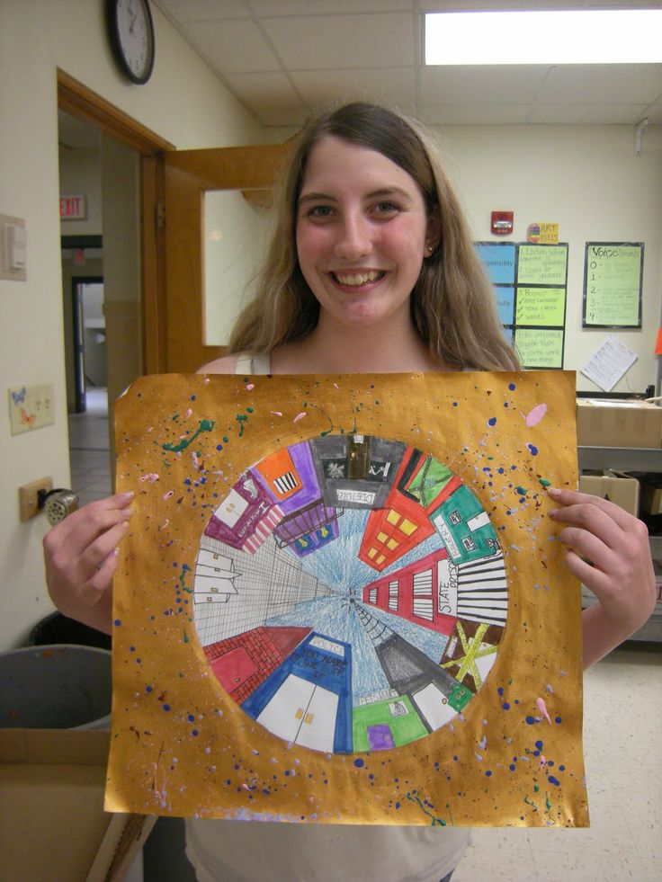 Tart--Teaching Art with Attitude: A Walk around a City Block--Middle School (**This would be a cool project to do with Cisnero's House on Mango Street!)