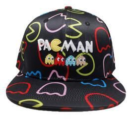 Game Series Player Man Pacman Cosplay Cap black Novelty personality PAC-MAN Hats cartoon ladies dress 2 style Baseball cap