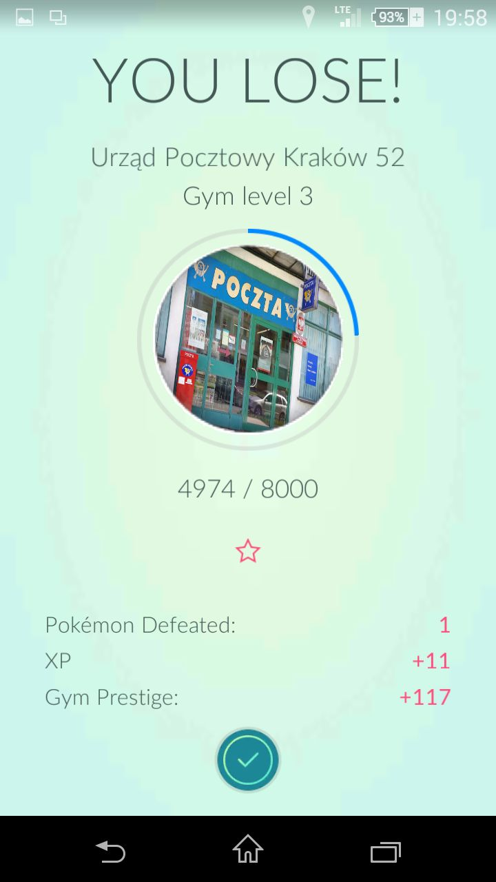 """Screen from game: """"Pokemon GO"""""""