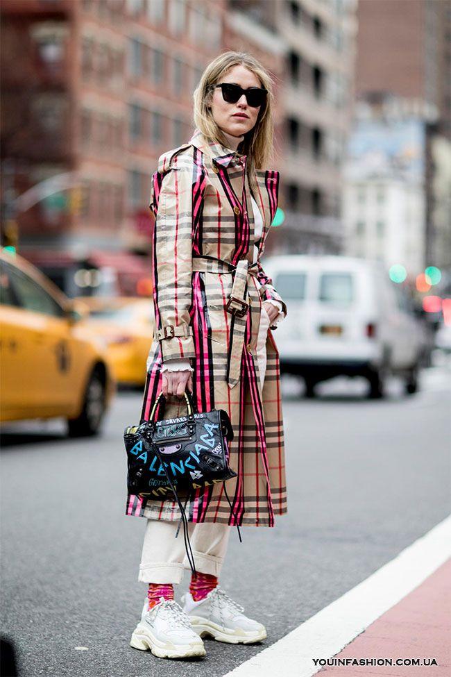Street style на Неделе моды в Нью-Йорке осень-зима 2018-2019   Что ... c45350542c8