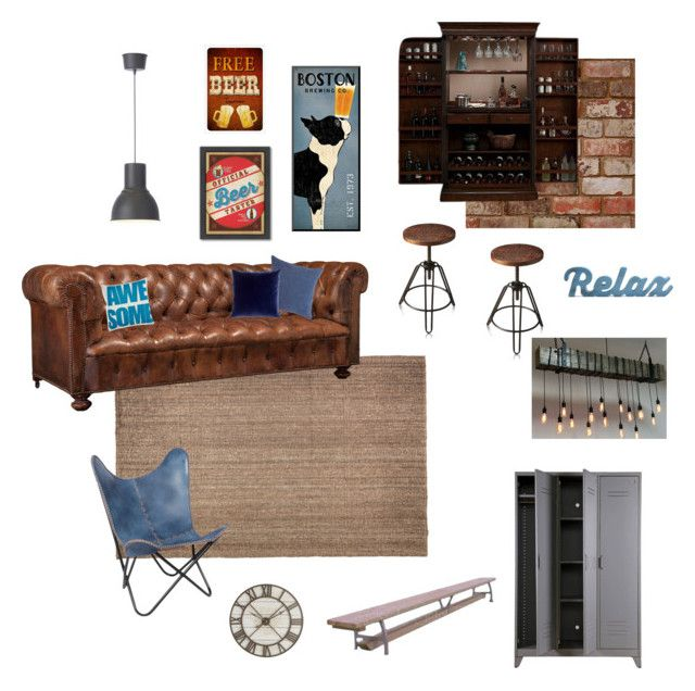 B padlás by reka-palyi on Polyvore featuring interior, interiors, interior design, home, home decor, interior decorating, American Heritage Billiards, Butler Specialty Company, Barneys New York and Pier 1 Imports