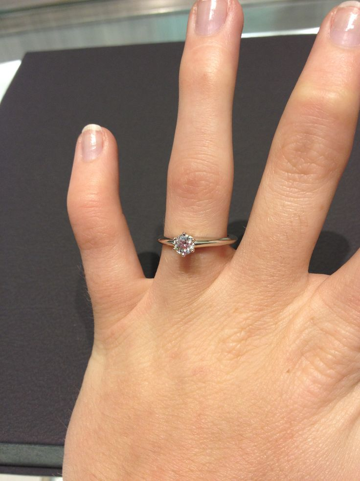 My DREAM ring- the solitaire Tiffany setting engagement ring I tried on in Tiffany & Co.! Absolutely in love!