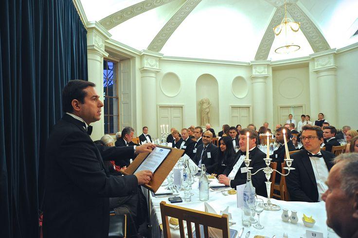 Στο δείπνο των αποφοίτων του Κολλεγίου Green Templeton του Πανεπιστημίου της Οξφόρδης - http://goo.gl/LkTVcG