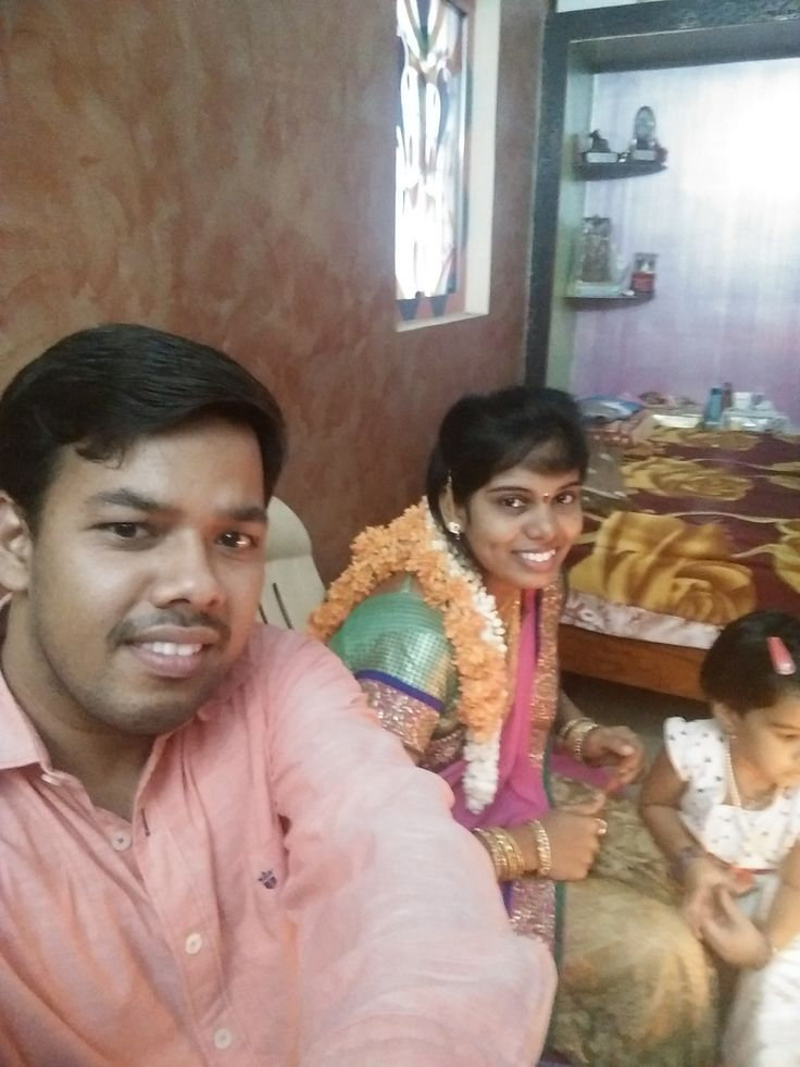On her birthday - Me, Sushma and Poorvi. May 30th 2015.