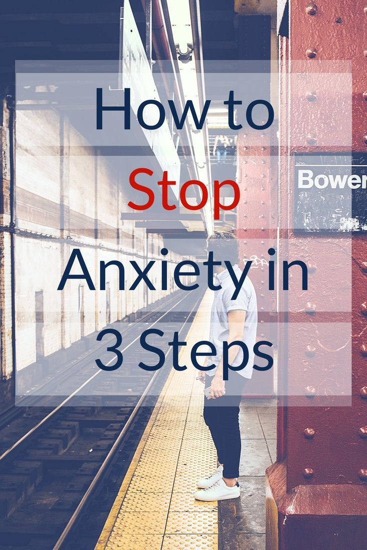 Anxiety is debilitating! Learn these 3 steps to stopping anxiety and get your life back. Long term anxiety can cause health problems. Stop anxiety now.
